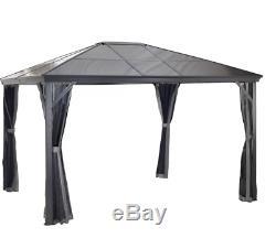 Sojag Verona Hard Roof Gazebo with Mosquito Netting