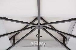 Steel Gazebo Large Pergola Heavy Duty 10 x 12 Roof Patio Metal Frame Canopy Tent