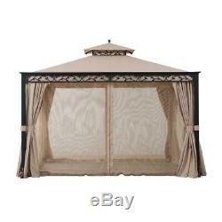 Sunjoy 10 ft. X 12 ft. Steel Gazebo with Decorative Vine Frame Detail