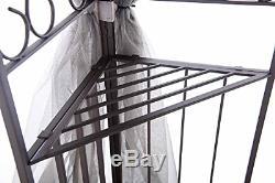 Sunjoy 10' x 12' Monterey Gazebo with NettingGray with Black