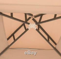 Sunjoy 10'x10' Hampton Softtop Steel Gazebo with Netting