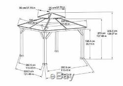 Sunjoy A102008500 Chapman 10x10 ft. Cedar Framed Gazebo with Steel 2-Tier Hip