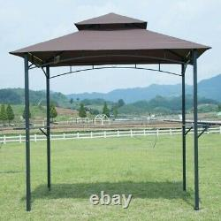 Sunjoy Brown Steel Grill Gazebo with Air Vent 8'x 5