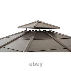 Sunjoy Missouri Collection 10 ft. X 10 ft. Cedar Framed Gazebo with Brown Steel