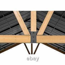 Sunjoy Princeton Collection 13 x 15 ft. Cedar Framed Gazebo with Steel Gable