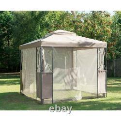Taupe or grey Luxury Metal Framed Garden Canopy/Gazebo 2.5 x 2.5 m