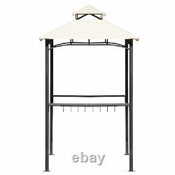 Tented BBQ Canopy for Outdoor Activities, Gazebo with Shelves and Metal Frame