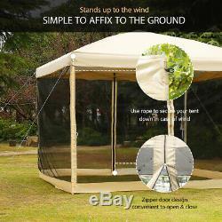 VIVOHOME 10'x10' Outdoor Canopy Gazebo Wedding Party Patio Mesh Pavilion Tent