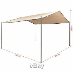 VidaXL Garden Gazebo 13' 1x13' 1 Beige Patio Outdoor Tent Pavilion Canopy