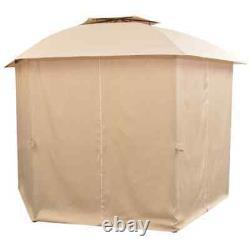 VidaXL Garden Marquee with Curtains 11' 9x8' 8 Pavilion Tent Gazebo Sunshade