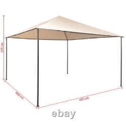 VidaXL Gazebo Pavilion Tent Canopy Steel Beige Marquee Shelter 118.1/157.5