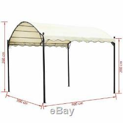 VidaXL Patio Gazebo 13'x10'x8' Cream White Outdoor Canopy Shed Yard Shelter