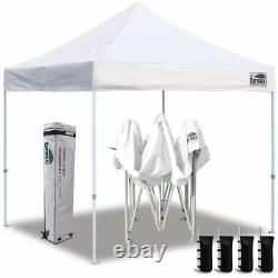 White Ez Pop Up 10x10 Commercial Waterproof Canopy Instant Tent With Wheeled Bag