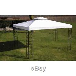 10 × 13 Pieds Blanc Jardin Extérieur Cadre En Acier Gazebo Bbq De Pique-nique Party Tente Canopy