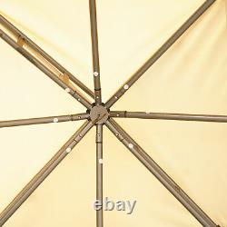 10' X 10'/3mx3moutdoor Patio Toit À 2 Étages Gazebo Canopy Cadre En Acier Avec Mesh
