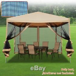 10' X 10' Easy Pop Up Canopy Tente Gazebo Avec Des Murs Mesh Side Screen Maison