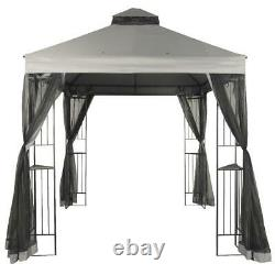 10 X 10 Gazebo Canopy Shade Cover Tent Outdoor Steel Frame Deck Easy Assembly