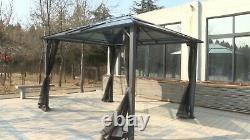 10' X 10' Patio Extérieur Soft Canopy Gazebo Cadre En Acier Canopy Avec Paroi Latérale