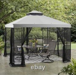 10' X 10' Patio Garden Gazebo Sunshade Easy Assemblage Cadre En Acier Avec Filetage