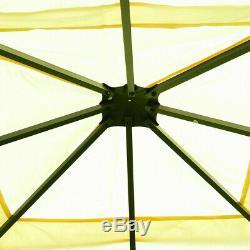 10 X 10 Pi Patio Gazebo Auvent Tente Cadre En Acier Abri Patio Party Couverture Auvent