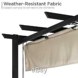 10 X 10 Pieds Pergola Kit Cadre Métal Gazebo Canopy Cover Patio Abri Meubles