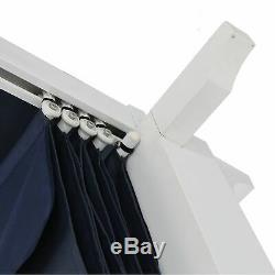 10' X 12' Meritmoor Aluminium Pergola En Acier Extérieur Ombre Canopy Bleu Marine