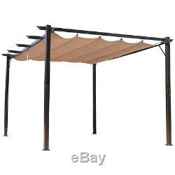 10' X 13' Gazebo Pergola Extérieur En Acier Patio Cour Arrière Tente Canopy Party Ombre