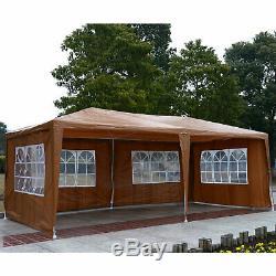 10' X 20' Gazebo Tente Patio Auvent Abri 4 Amovible Fenêtre Pliante Avec