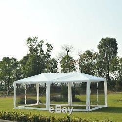 10 X 20 Pieds Gazebo Canopy Party Abri Soleil Tente Easy Set Avec Mesh Moustiquaire