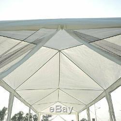 10 X 30pi Gazebo Canopy Party Abri Soleil Tente Easy Set Avec Mesh Moustiquaire