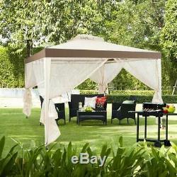 10 X12 Gazebo Extérieur Jardin Patio Canopy Netting Pour Soirée De Mariage