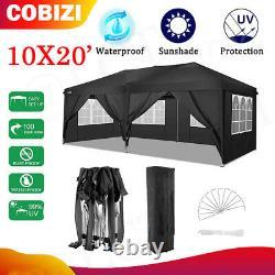 10' X20 Ez Pop Up Wedding Party Tente Étanche Gazebo Canopy Heavy Duty Outdoor