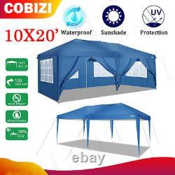 10 X20'-ez Pop Up Wedding Party Tente Étanche Gazebo Canopy Heavy Duty Outdoor