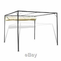 10'x10' Jardin Gazebo Rétractable Toit Canopy De Soirée De Mariage Tente Sun Shade Patio