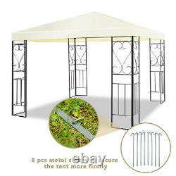 10'x10' Patio Gazebo Canopy Tent Steel Frame Shelter Patio Party Auvent