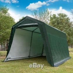 10'x10' Patio Tente Abri Abri De Stockage Abri Voiture Canopy Heavy Duty Vert