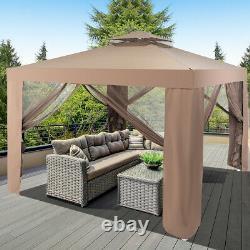 10x 10 Canopy Gazebo Tente Abri Withmosquito Netting Extérieur Jardinet Café