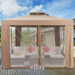 10x 10 Canopy Gazebo Tente Shelter Art Cadre En Acier Crémaillère Patio Jardin