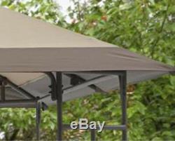 10x10 Canopy Gazebo Cour Arrière Patio Abri Ventilé Toit Tente Bbq Party Sun Shade