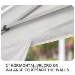 10x10 Commercial Ez Pop Up Aluminium Canopy Outdoor Party Abat-jour Instantanée Tente