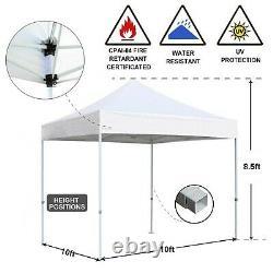 10x10 Ez Pop Up Party Tente De Mariage Patio Gazebo Canopy Outdoor Mesh Silver Withbag