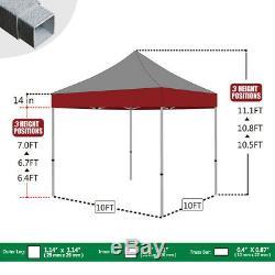 10x10 Logo Personnalisé Imprimé Extérieur Salon Pop Up Shade Patio Tente Canopy