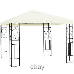 10x10 Patio Extérieur Gazebo Canopy Tent Steel Frame Shelter Patio Party Auvent