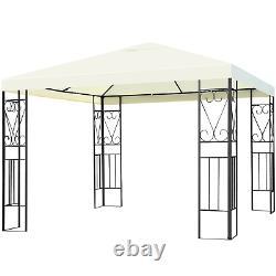 10x10 Patio Gazebo Canopy Tente En Acier Cadre Jardin Arrière Abri Étanche