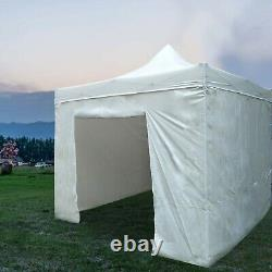 10x10ft Outdoor Gazebo Imperméable Tente Tente Pop Up Canopy With6 Removable Sidewal