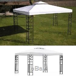 10x13 Pieds Blanc Jardin Extérieur Cadre Acier Gazebo Bbq De Pique-nique Canopy Tente