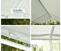 10x20 Gris Gazebo Garage Abri De Voiture Robuste Extérieur En Acier Auvent Tente Frame