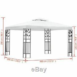 118.1x157.5 Jardin Gazebo Tente Chapiteau Parti Canopy Extérieur Étanche Mariage