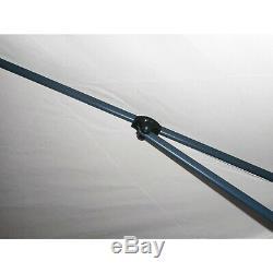 12' X 12' Tan Patio Extérieur Gazebo 6 Sided Plein Écran Du Boîtier Arrière Canopy