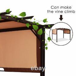 12' X 9' Pergola Kit Cadre Métal Gazebo Canopy Cover Patio Abri